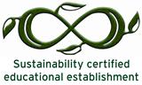 kestävän kehityksen sertifikaatin logi englanniksi
